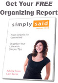 Get Your Free Organizing Report